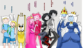 Finn,Fionna,Jake,Cake,Princess Bubblegum,Prince Gumball,Marceline,Marshall Lee,Ice King,Ice クイーン