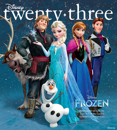 frozen - disney Twenty Three Magazine Cover