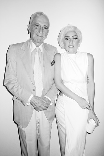 Gaga by Terry Richardson: Gaga and Gay Talese at Terry's studio