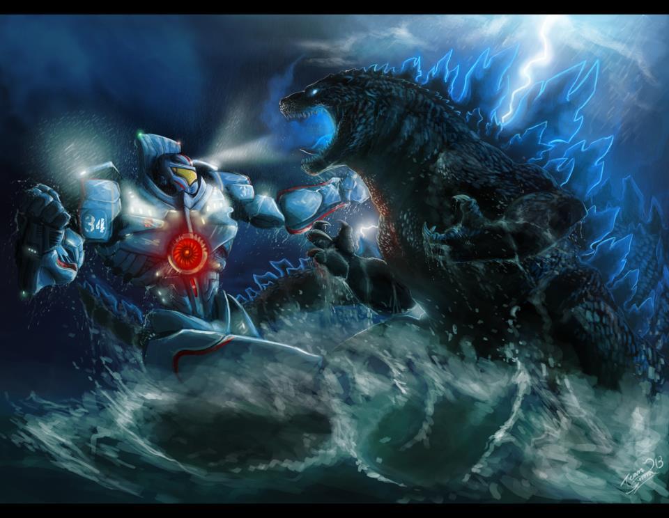 Gispy Danger vs. Godzilla