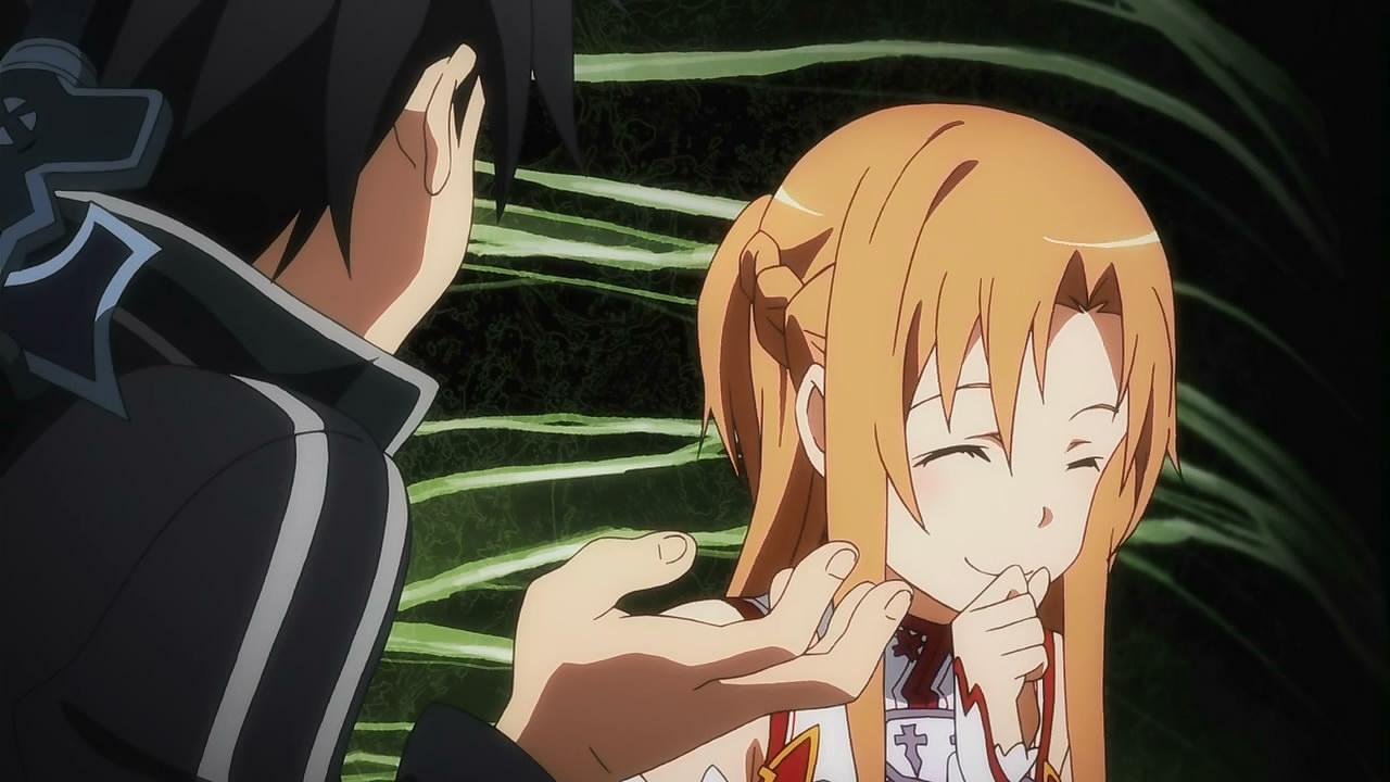 Happy Asuna o is it laughing Asuna?