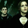 Harry and Hermione photo possibly with a portrait entitled Harmony in the DH part 2