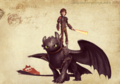 Hiccup and Toothless from HTTYD 2 - how-to-train-your-dragon photo