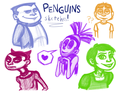 Human POM Sketches 1 - penguins-of-madagascar fan art