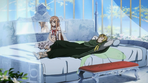 I sure wish the guy sleeping 다음 to Asuna was Kirito