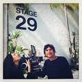 Inez and Vinoodh, the directors of the first ARTPOP Музыка video, on the stage where Gaga is filming