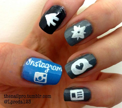 Nails, Nail Art wallpaper titled Instagram