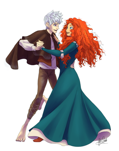 Jack Frost and Merida - jack-frost-and-merida Photo