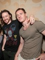 James & Michael - Comic Con 2013 - james-mcavoy-and-michael-fassbender photo