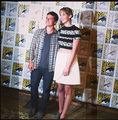 Josh and Jen at SDCC - jennifer-lawrence-and-josh-hutcherson photo