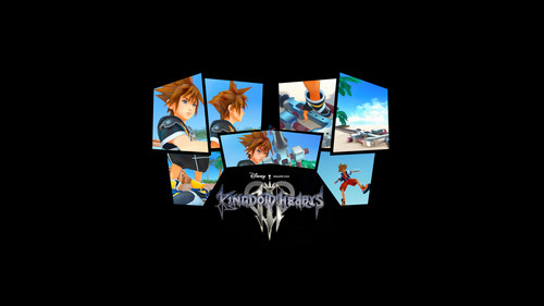 Kingdom Hearts kertas dinding with a sign and a stained glass window called Kingdom Hearts!<3