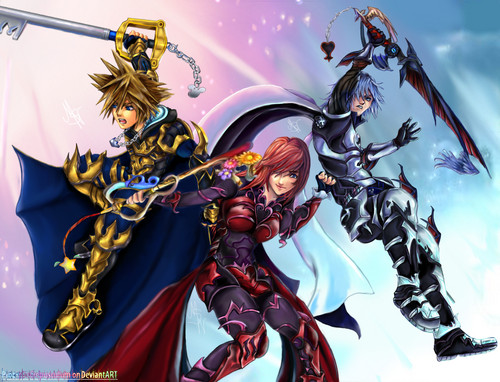 Kingdom Hearts wallpaper with anime called Kingdom Hearts!<3