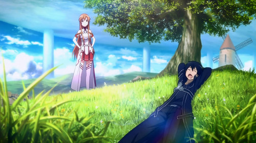 sword art online fondo de pantalla titled Kirito and Asuna