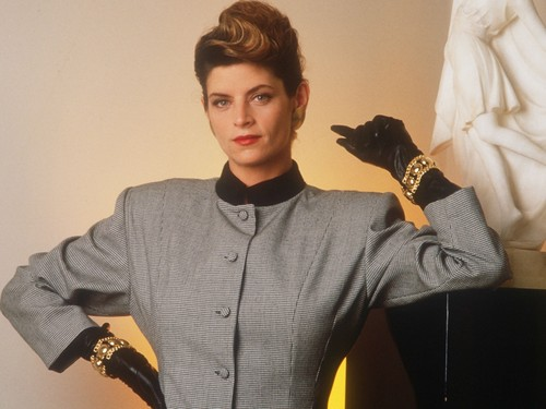 Kirstie Alley wallpaper possibly containing a box coat and an outerwear titled Kirstie Alley