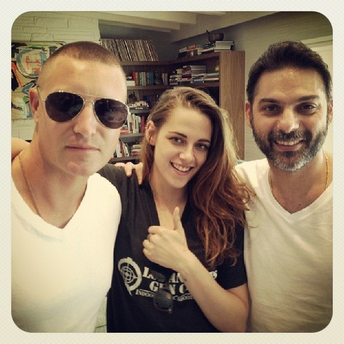 Kristen with 2 of her Camp X-Ray co-stars