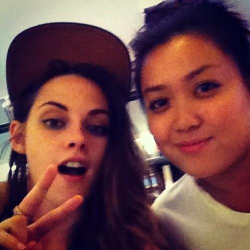 Kristen with a tagahanga