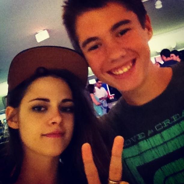 Kristen with a fan