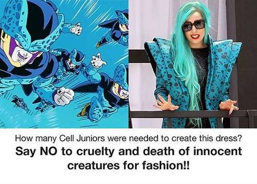 Lady gaga use cell jr for dress