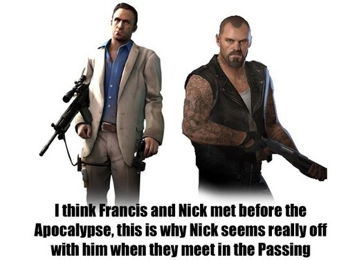 Left 4 Dead 2 fond d'écran possibly containing a business suit and a well dressed person entitled Left 4 Dead Headcanon
