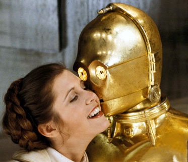 Star Wars wallpaper possibly with a breastplate called Leia and C3PO
