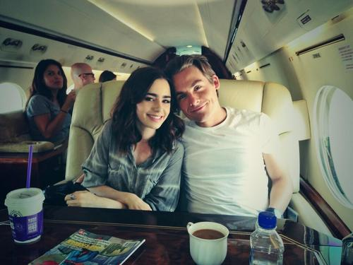 Lily Collins & Kevin Zegers Twitpic