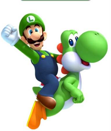 Super Mario Bros. wallpaper entitled Luigi and Yoshi