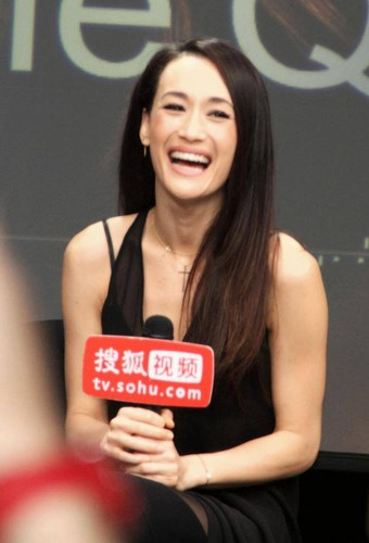 Maggie Q airborne Sohu awarded the pamagat of Ambassador drama