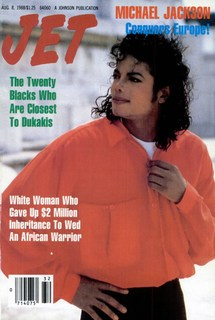 "Michael Jackson On The Cover Of The 1988 Issue Of ""JET"" Magazine"