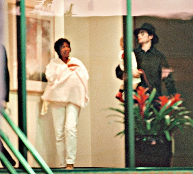 Michael With Grace Rwamba And Two Older Children, Prince And Paris