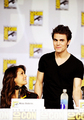 Nina and Paul at San Diego Comic Con 2013 - paul-wesley-and-nina-dobrev photo