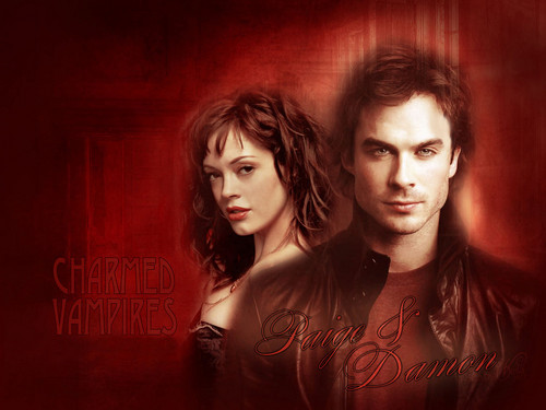 Charmed wallpaper possibly containing a portrait titled Paige and Damon