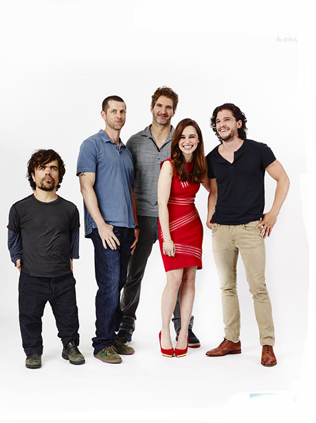 Peter Dinklage, David Benioff, D.B. Weiss, Emila Clarke, Kit Harington