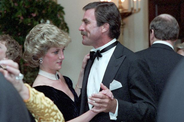 Princess Diana unseen pictures of her dancing with Tom Selleck and Clint Eastwood