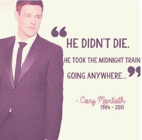 Cory Monteith achtergrond containing a business suit and a suit entitled R.I.P