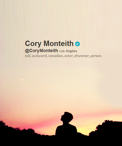 Cory Monteith achtergrond containing a sunset called R.I.P