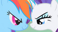 regenbogen Dash and Rarity
