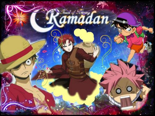 Ramadan Karim with anime
