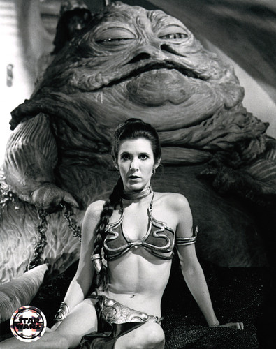Star Wars wallpaper with a bikini entitled Rare Slave Leia Images