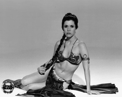 Star Wars wallpaper probably with a bikini entitled Rare Slave Leia Images
