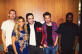 Rob with Beyonce and his دوستوں