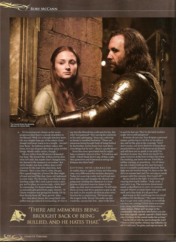 Rory McCann's interview in SFX Bookazine 4: Game of Thrones