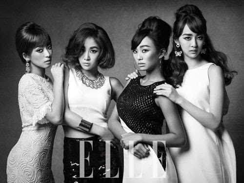 SISTAR stunning 1960s beauty for 'ELLE'
