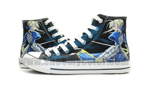 Saber Fatestay Night hand painted sneaker