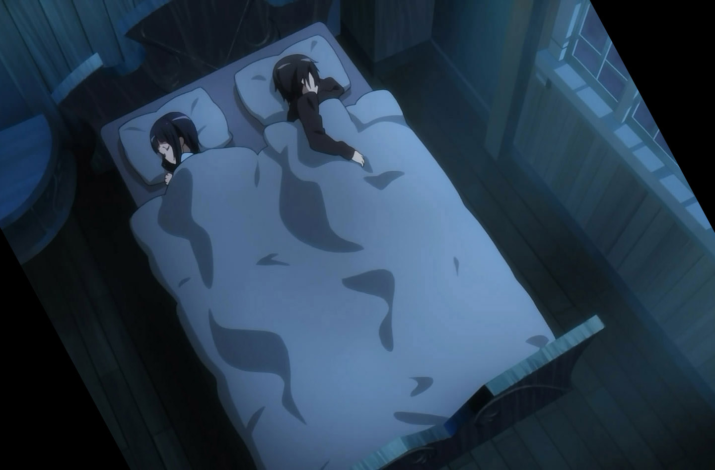 Sachi and Kirito sleeping together