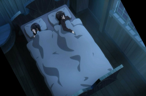 Sachi and Kirito sleeping together