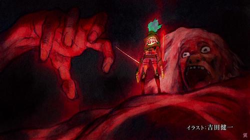 Shingeki no Kyojin (Attack on titan) karatasi la kupamba ukuta called Shingeki no Kyojin [episode 14 - end card]