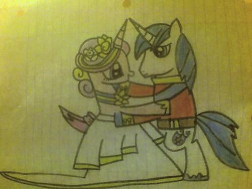 Shining Armor an d Princess Cadence Dancing