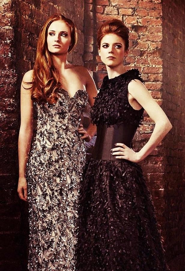 Sophie Turner and Rose Leslie 【Radio Times; April 2013】