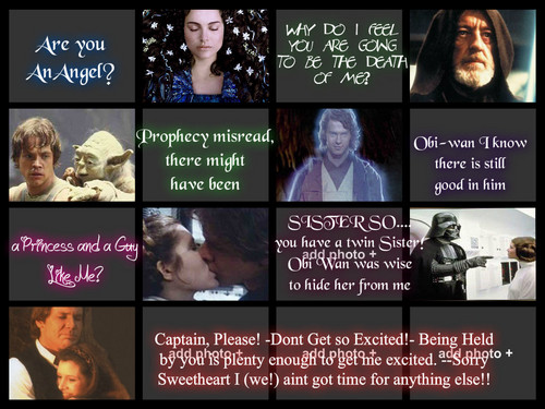 estrella Wars irony collage