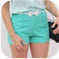 Super cute shorts with white bow belt. - teen-fashion photo